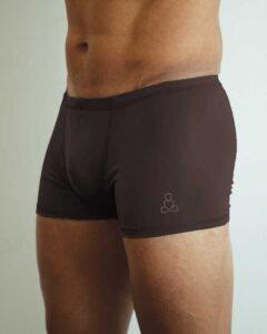 Padmasana-mens-yoga-shorts-Espresso-color-Sweat-n-Stretch