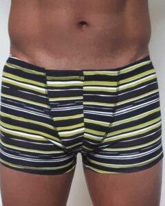 Padmasana-yoga-shorts-lime-green-stripes-Sweat-n-Stretch