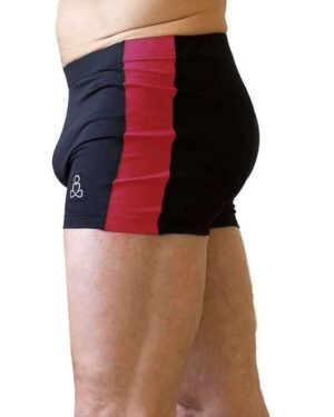 Bakasana-shorts-side-stripe-black-raspberry