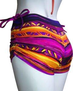 Leyla-side-string-shorts-Mumbai-print-by-Sweat-n-Stretch