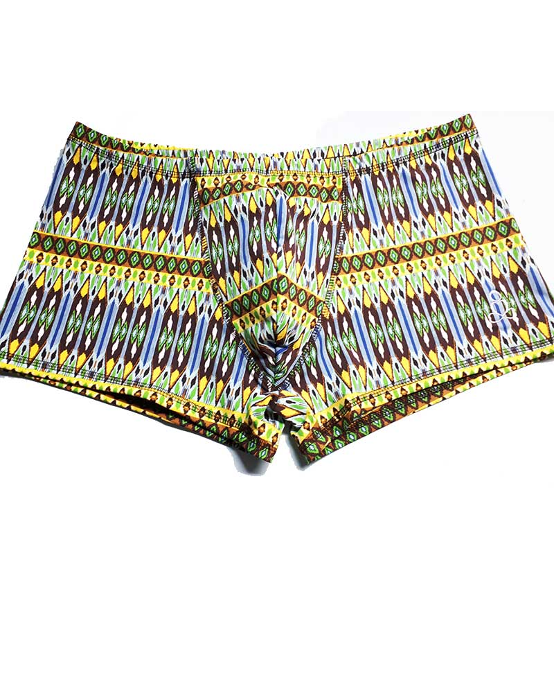 Hot-Yoga-Shorts-Padmasana-mini-Lime-green-aztec-prints