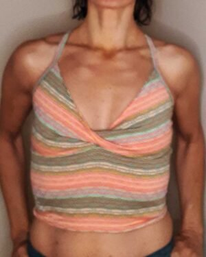 Twist-front -crop-top-salmon-toile-by-Sweat-n-Stretch