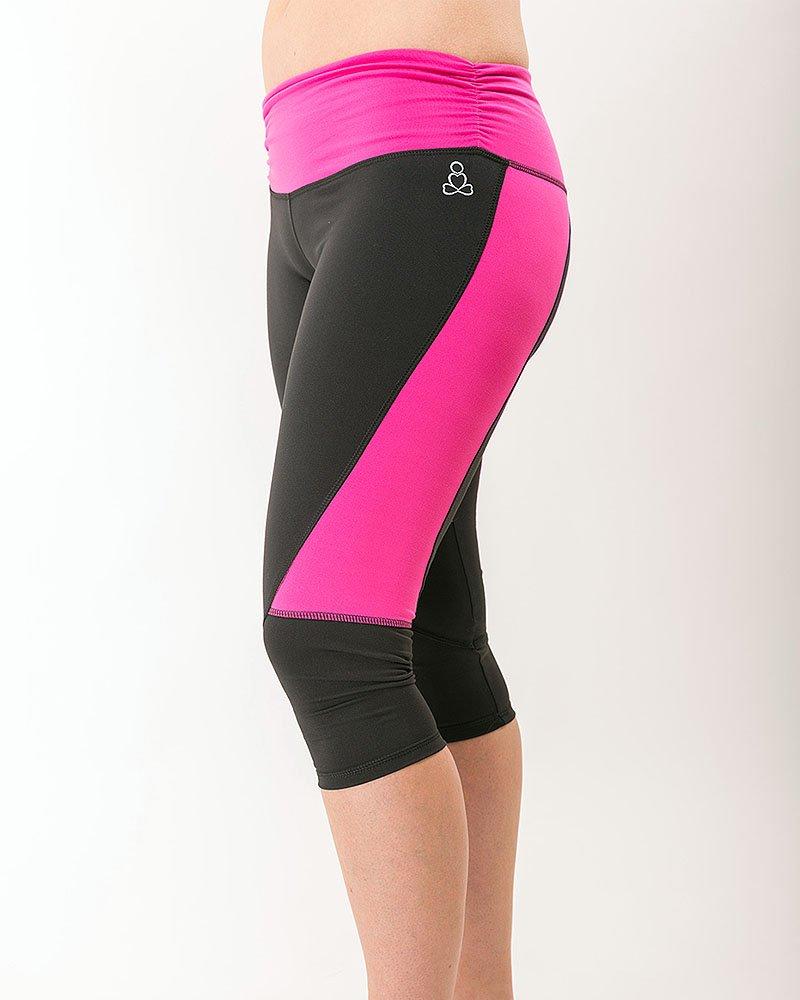 Fashionista-womens-capris-black-hot-pink