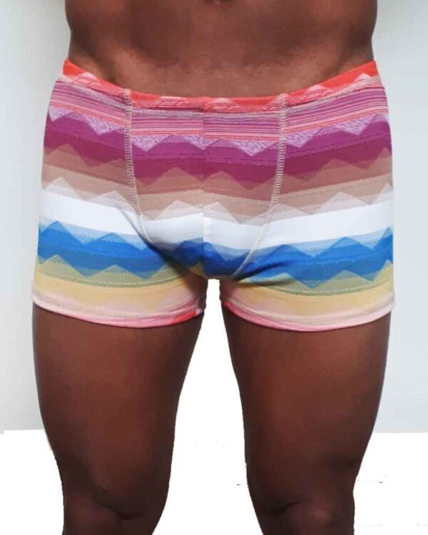 Mens-shorts-jaquard-knit-stripes
